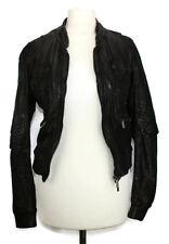 KAREN MILLEN leather bomber jacket coat UK 6 US2