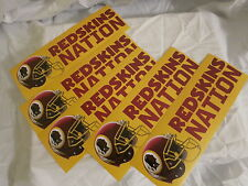 LOT OF 5 - WASHINGTON REDSKINS NFL NEW BUMPER STICKER LOT 3 X 12 RARE / NEW