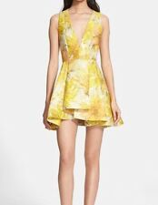 Alice Olivia Tanner Jacquard Floral Dress Size 8
