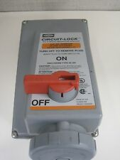 HUBBELL 460MI12W PIN SLEEVE MECHANICALLY INTERLOCKED RECEPTACLE 3P4W 60A USED