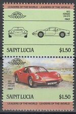 St. Lucia 1985 ** Mi.746/47 Automobile Autos Cars Ferrari 246 GTS [sq6259]