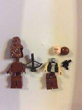 New Lego Star Wars Han Solo & Chewbacca Minifigures from Set 10236 Ewok Village
