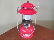 VINTAGE COLEMAN 200A RED SINGLE MANTLE LANTERN DATED 11/79  NO GLOBE