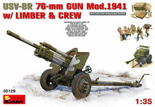 MINIART MODEL KIT MIN35129 1:35 SCALE USV-BR 76mm Gun Mod.194 w/ Limber & Crew