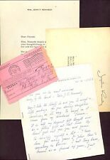 ORIGINAL JACKIE KENNEDY JFK HANDWRITTEN LETTER LOT