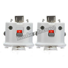 2x Motion Plus MotionPlus Adapter Sensor fr Nintendo Wii Remote Controller White