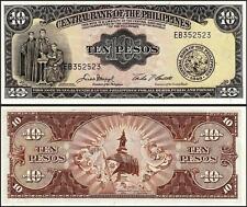 PHILIPPINES 10 PESOS 1949 UNC- P.136E SIGN 5 PREFIX EB