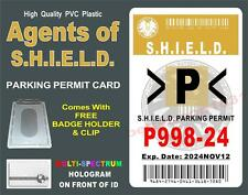 Agents of S.H.I.E.L.D. (Parking Permit) ID Badge / Card Prop - SHIELD ID ~ PVC