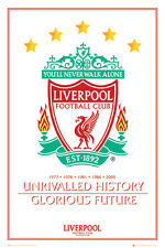 Liverpool FC Crest - Unrivalled History POSTER 61x91cm NEW * Glorious Future