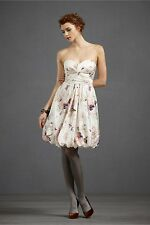 BHLDN Anthropologie Ivory Silk Butterfly Twirled Sweetheart Dress - NWOT- Size 0