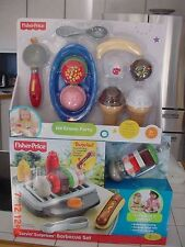Fisher Price Servin Surprises Ice Cream Party Scoop Sprinkles  & Barbecue Set