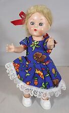 "VINTAGE 1950s 7.5"" RODDY HARD PLASTIC BLONDE DOLL"