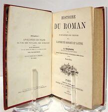 CHASSANG : Histoire du roman et de ses rapports avec l'histoire dans l'antiquité