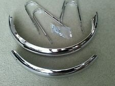 "NEW CHROME FENDER SET FOR 16"" BICYCLES,WITH HARDWARE,SCHWINN TYPE, PIXIE"