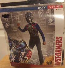 Transformers Optimus Prime Child Costume Boys Small 4-6 New Halloween Cosplay