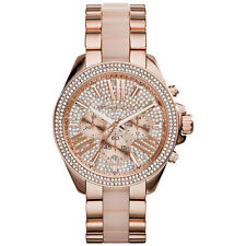 Michael Kors Layton Pave Dial Rose Gold-tone MK5946 Wrist Watch for Women
