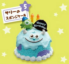 Japan Disney Dollhouse Re-ment Miniature Pixar Birthday Cake with age RARE #5