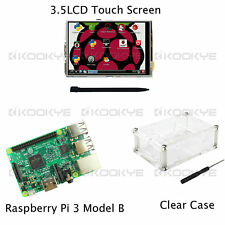 Raspberry Pi 3 Modèle B Board 3.5 TFT LCD Écran tactile Kit Clear Case