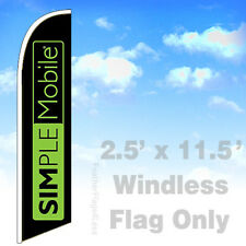 Flag Only 2.5' WINDLESS Swooper Feather Banner Sign - SIMPLE MOBILE kb