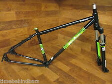 SALSA ELMARIACHI 2 CROMOLY STEEL 29ER FRAME 100MM ROCK SHOX REBA 15TA MEDIUM 17""