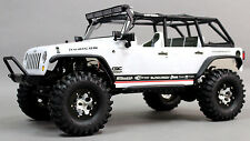 Axial SCX10 Jeep 1.9 ROCK Crawler METAL Rims BEAD LOCK KNOBBY Tires Wheel SILVER