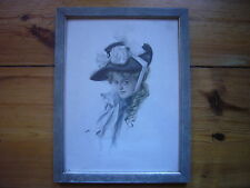 "Original Harrison Fisher Print 1906  ""Those Bewitching Eyes"" (Hexenaugen) Framed"