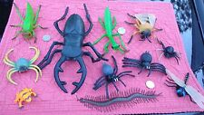 Toy Bug Lot:  Giant Beetle , Mantis , Cricket  , Fly , Spider , Dragonfly