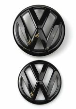 VW VOLKSWAGAN GOLF 5 MK5 GLOSS BLACK FRONT GRILL & REAR BOOT BADGE EMBLEM