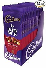 CADBURY Fruit & Nut Milk Chocolate Bar (3.5-Ounce, Pack of 14) by Cadbury NEW