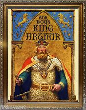 King Arthur Art by N.C Wyeth A+ Quality Framed  Print