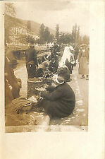 GRECE GREECE CARTE POSTALE PHOTO MACEDOINE MACEDONIA MARCHé MARKET 1918