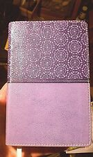 NIV Compact Thinline Bible - Lavender Italian Duo-Tone - Red Letter Edition