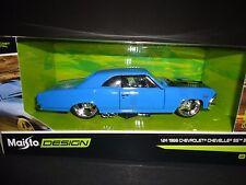 Maisto Chevrolet Chevelle SS396 1966 Blue 1/24