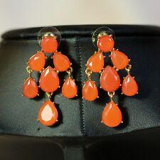 Boucles d`Oreilles Clous Chandelier Orange Ancien Rétro Vente En Gros G1