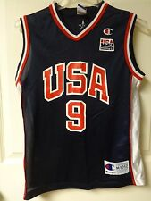 Vintage Champion Vince Carter # 9 USA Olympic BB Team Youth Size Medium Jersey