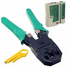 PRO RJ45 RJ11 RJ12 CAT5 LAN Network Tool Kit Cable TesterCrimp Crimper Plier