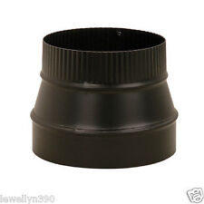 "6"" X 7"" 24 Gauge Heavy Duty BLACK Stove Pipe REDUCER"