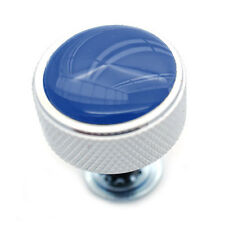 """Chrome Billet """"Blue Top"""" Knurled Thumb Screw Seat Bolt for 1996 - up Harley"""