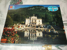 1000 Pc Jigsaw Puzzle Milton Bradley Big Ben Linderhof Castle Bavaria Sealed New