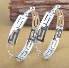 :New Women 925 Sterling Silver Fashion Hoop Dangle Earring Studs Jewelry