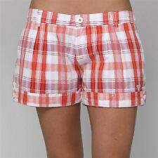 Roxy Shorts Hose Bermuda Burgubdy - rot weiß orange lila - Größe 28 - WIE NEU