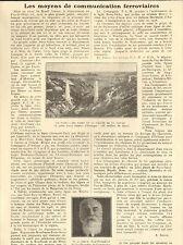 63 LES MOYENS DE COMMUNICATIONS FERROVIAIRES ARTICLE DE PRESSE A. JOUVE 1925