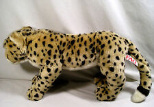 """Stuffed Animal, 28"""" Spotted Cheetah Leopard Plush by F.A.O. Swartz Tiger Cat Toy"""