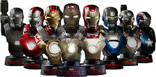 IRON MAN 3 - Hot Toys Deluxe 1/6th Scale Collectible Bust Set (8) #NEW