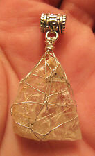 Sterling Fine Silver Witches Finger Fingers Crystal Pendant #3z spirit guides