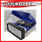 COLLEGIATE VINTAGE RETRO PORTABLE TURNTABLE RECORD PLAYER w SPEAKER USB AUX IN