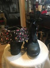 Doc Dr Martens Air Walk Boots Leather And Floral