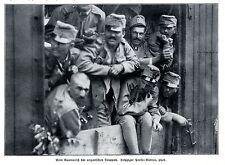 Unsere Verbündeten Ausmarsch der ungarischen Truppen 1914 * WW 1