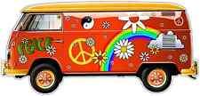 """Hippie Bus Vehicles Volkswagen Car Bumper Window Sticker Decal 6""""X3.5"""""""