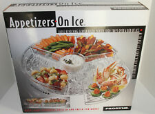 Appetizer Tray On Ice, 6 Compartments with lids, NEW Prodyne Ab5l Acrylic Tray